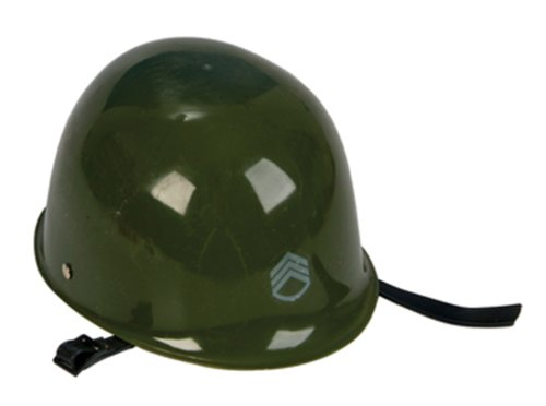 [Olive Drab Green Toy ARMY Hat Helmet Kids Military Costume Pretend Head Gear] (Military Hat Costumes)