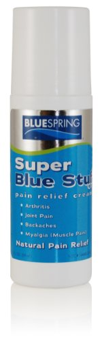 Super Blue Stuff OTC 3-oz. Roll-on - Natural, Made in USA, Paraben-free, Works in As Little As 5 Minutes for Joint/Muscle Pain, Backaches, Sprains/Strains, Bruises & Arthritis