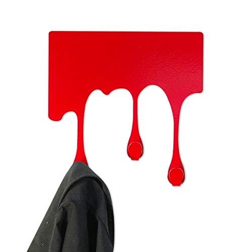 Diseño de la pintura que fluye gancho perchero Rojo: Amazon ...