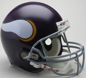 Riddell NFL Minnesota Vikings 1961-1979 Throwback Authentic Vsr4 Full Size Football Helmet