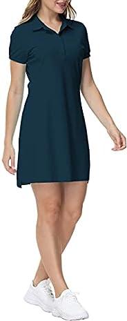 AIRIKE Women Tennis Dress Short Sleeve Golf Polo Dress Shirt Soft Comfy Athletic Dress T Shirt