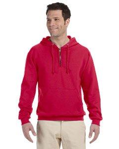 Jerzees mens 8 oz. 50/50 NuBlend Fleece Quarter-Zip Pullover