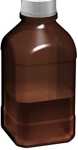 Scilogex Square Amber Borosilicate Glass Autoclavable Bottle, 1L