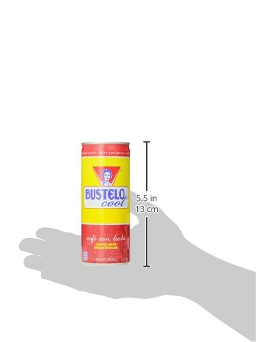 Bustelo Cool Cafe Con Leche Coffee Beverage, 8 Ounce (Pack of 12)