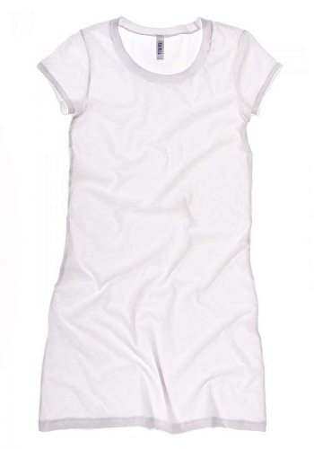 Bella Ladies 3.8 oz. Vintage Jersey T-Shirt Dress - WHITE - S