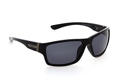 9880 Light - DESPADA, Made In ITALY Men's Polarized Wrap-Around Sunglasses DS1450c1 (Black, Grey)