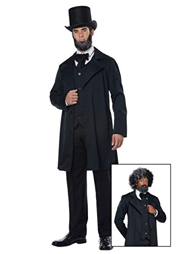 California Costumes Men's Abraham Lincoln-Frederick Douglass-Adult Costume, Black, Small