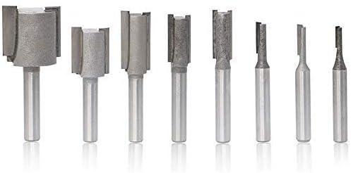"12X 1//8/"" Shank Cutter Carbide Mill Cutter Router Bit Double Side Groove Tool Set"