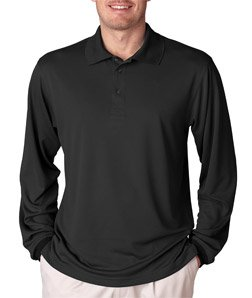 3e5838163 UltraClub Men's Cool & Dry Sport Long-Sleeve Polo T-Shirt at Amazon ...