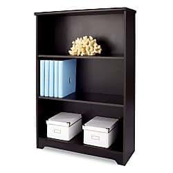 Amazon Com Realspace R Magellan Collection 3 Shelf Bookcase Espresso Kitchen Amp Dining