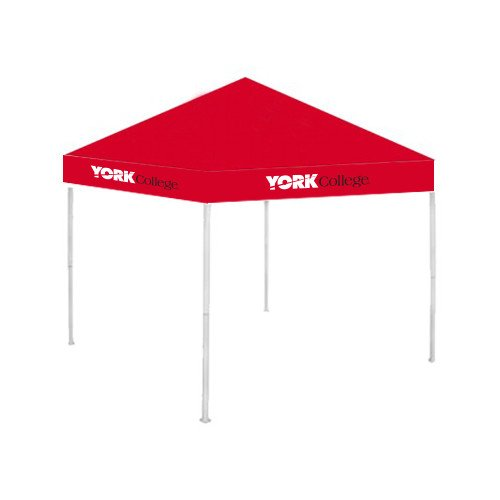 York College 9 ft x 9 ft Red Tent 'Official Logo' by CollegeFanGear