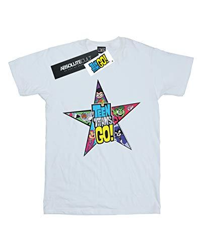 Star Teen Maglietta Girl Comics Dc con Bianco Titans logo Go ZqpTa