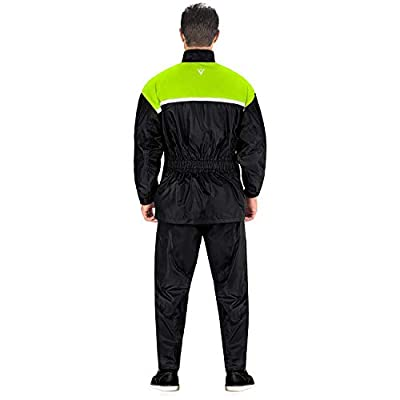 Viking Cycle Motorcycle Rain Gear - Two Piece Motorcycle Rain Suit: Clothing