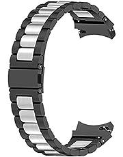 Strap Compatibel voor Samsung Galaxy Watch 4, 20mm roestvrij staal vervangende riem, voor Galaxy Watch4 44/40mm en Watch4 Classic 46mm/42mm