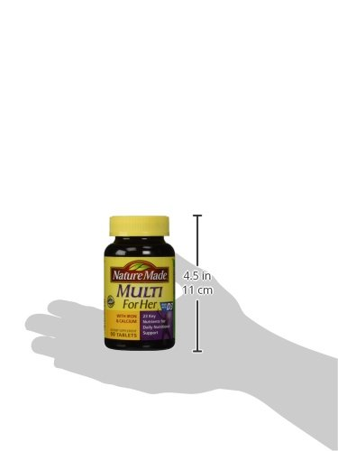 031604017910 - Nature Made, Multi For Her with Iron and Calcium, 90-Count Tablets carousel main 4