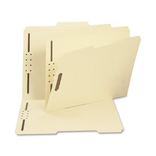 - Smead Fastener File Folder, 2 Fasteners, Reinforced 2/5-Cut Tab Right of Center Position, Guide Height, Letter Size, Manila, 50 per Box (14580)