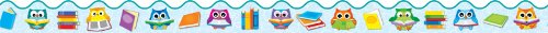 - Carson Dellosa Reading with Colorful Owls Borders (108175), 39' per pkg