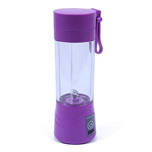Usb Juicer Blender Portable Bottle 2/4/6 Blades Mixeur Blender Cup Fruit/Food/Smoothie Personal/Kitchen Blender,Violet,2 Blades