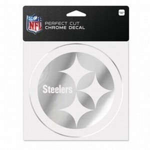 - WinCraft NFL Pittsburgh Steelers Chrome Perfect Cut Decal, 6 x 6, Black