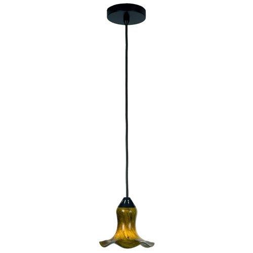 Checkolite Pendant Light (Checkolite 25323-36 Art Glass 1-Light 40-Watt Pendant, Dark Bronze)
