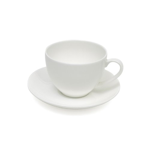 Maxwell and Williams Cashmere Round Demi Cup and Saucer, 4-Ounce Cashmere Bone China