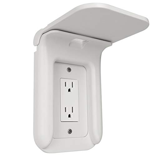Wall Outlet Shelf Power Perch Charging Station, Bathroom Wall Outlet Mount Holder Shelf Socket Bracket Charger Stand