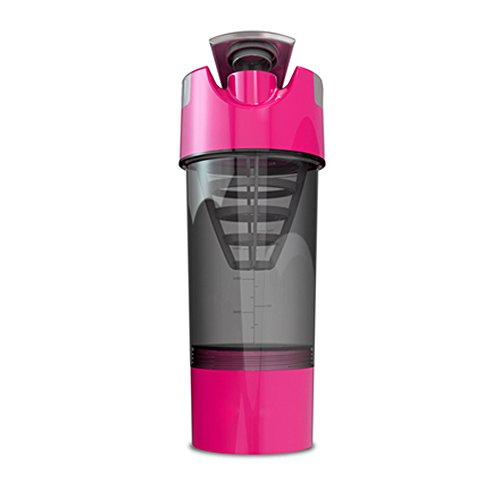 Cyclone Cup 20oz Blender Mixer Bottle Protein Shaker with Compartment-Pink color