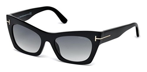 Tom Ford 05B Black TF459 Cats Eyes Sunglasses Lens Category 2