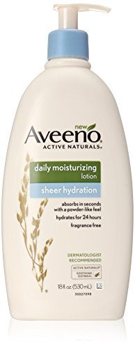 Aveeno Sheer Hydration Daily Moisturizing Lotion, 18 Fluid Ounce (Sheer Body Lotion)