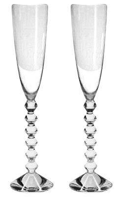 Baccarat Crystal Véga Flutissimo Flute - Clear - Set of 2