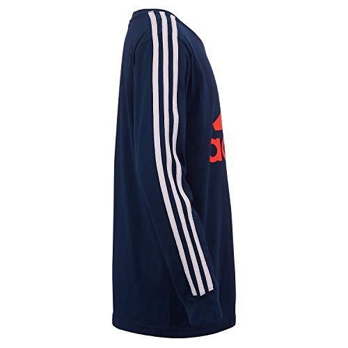 adidas Boys' Long Sleeve Cotton Jersey T-Shirt Tee 3