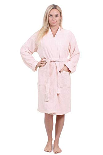 8e7858f366 Turkuoise Women s Terry Cloth Robe 100% Premium Turkish Cotton Terry Kimono  Collar