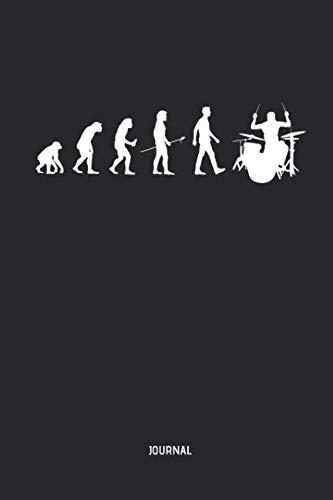 T-shirt Light Evolution - Drummer | Journal: Evolution of Man - Lined Drum Notebook - Great Accessories & Gift Idea for Drummer & Drumming Lover.