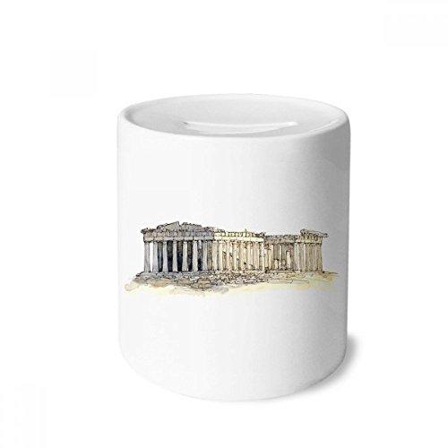 DIYthinker Acropolis of Athens of Greece Money Box Saving Banks Ceramic Coin Case Kids Adults