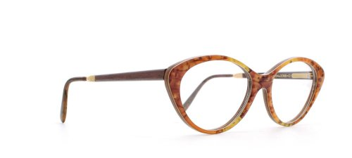 GOLD & WOOD - Monture de lunettes - Femme Orange Orange Yellow