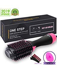 Hair Dryer Brush, One Step Hair Dryer & Volumizer, 3-in-1 negative ion Straightening Brush Salon and Curly Hair Comb Reduce Frizz and Static (black) by VGStar