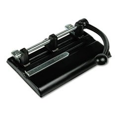 (40-Sheet Lever Action Two- to Seven-Hole Punch, 13/32\ Holes, Black