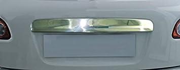 Embellecedor cromado de acero inoxidable para portón del maletero de Nissan Qashqai (encima