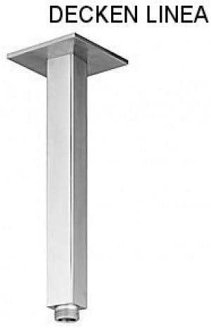 delanwa 604070/plafond Bras Bras de douche pour pomme de douche 50/cm LINEA en acier inoxydable bross/é