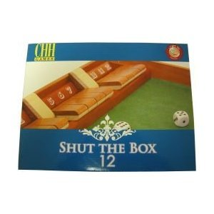 Wooden 12# Shut The Box Game Comes with A Pair of Dice