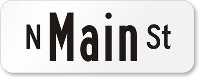 Customized Sign (black on white), 2-Sided High Intensity Reflective Aluminum Street Sign, 24'' x 9'' by RoadTrafficSigns