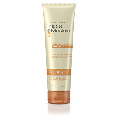 Neutrogena Triple Moisture Cream Lather Shampoo For Dry Hair And Frizzy Hair, 8.5 Fl. Oz. (Pack of 3)