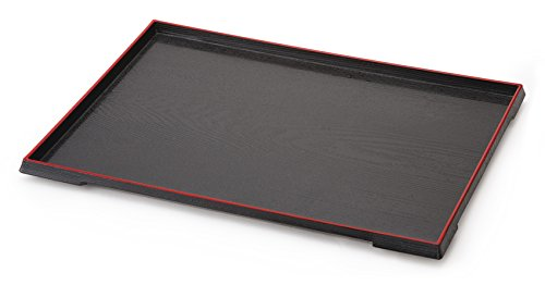 G.E.T. Enterprises 902-15-RB 15'' x 11.5'' Rectangular Tray, Plastic, Black (Pack of 12) by G.E.T. Enterprises