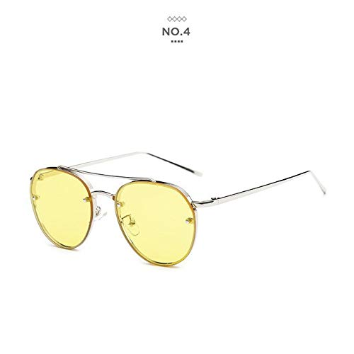 0a04f232bc Shopystore Gold-Gold  Badtemper Brand New Women Oval Sunglasses Clear Lens Female  Fashion Aviator O  Amazon.in  Clothing   Accessories