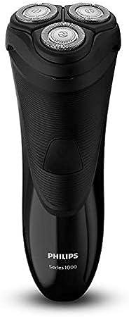Philips S1110/04 Afeitadora electrica para Hombre, Cuchillas autoafilables, Cabezales Flex de 4 direcciones, Recorta Patillas, con Cable