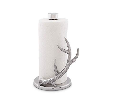 "Arthur Court Designs Aluminum Deer 13"" Antler Paper Towel Holder"