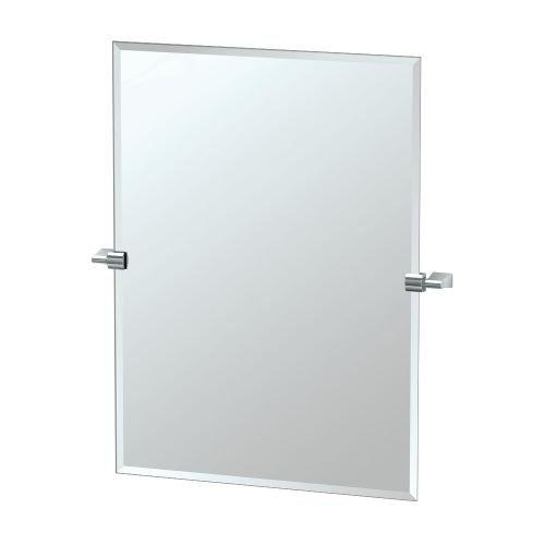Gatco 4389S Bleu Rectangle Wall Mirror, Satin Nickel from Gatco