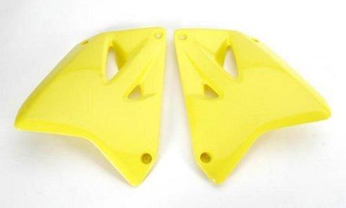 (UFO Plastics Radiator Cover Yellow for Suzuki RM 125 250 01-08)