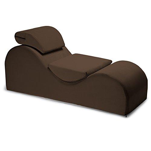 Liberator Esse Lounge Chair, Espresso Velvish - Box Sex Match