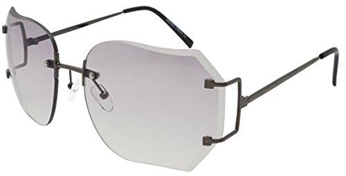 Sunglasses Men Rectangle Sun Glasses Grey Color Brand Design - 9